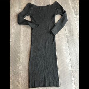 Active USA Grey Off the Shoulder Dress Grey Size L